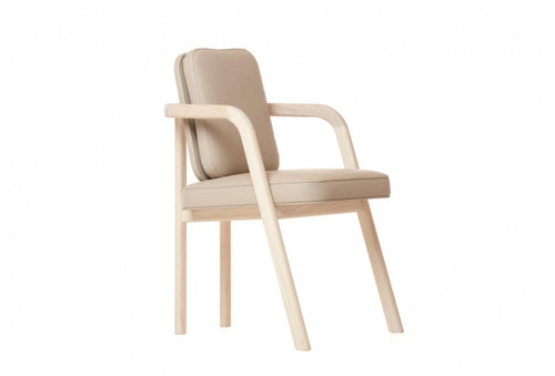 Master Chair is an upholstered dining chair with a slender open timber frame which allows the the enjoyment of its simple geometry. Designed by Autoban and manufactured by De La Espada for the Autoban brand.