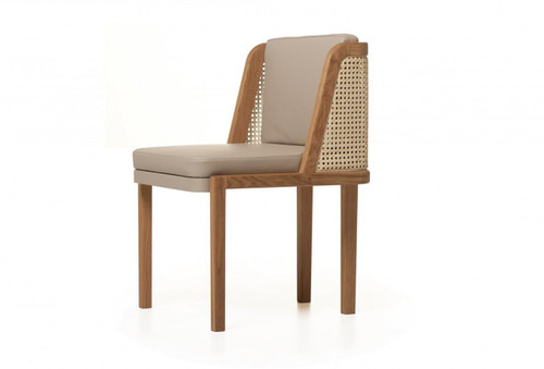 Throne Dining Chair marries tradition and modernity, recalling Autoban's Art Deco influences. Designed by Autoban and manufactured by De La Espada for the Autoban brand.