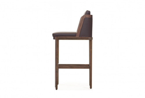 Throne Bar Stool marries tradition and modernity, recalling Autoban's Art Deco influences. Designed by Autoban and manufactured by De La Espada for the Autoban brand.