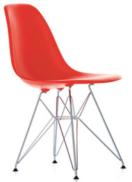 Ex Display Vitra Eames DSR Chair In Poppy Red