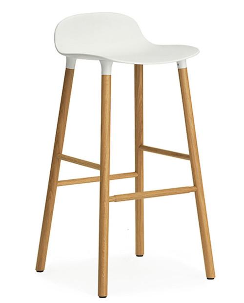 Form Barstool High - Oak - White