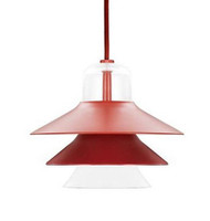 CLEARANCE Normann Copenhagen Ikono Pendant Light - Small Red