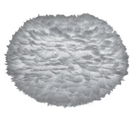 Vita Eos Large Light Grey Feather Pendant