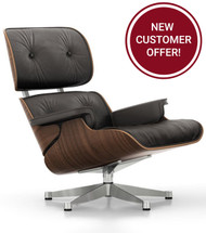 Vitra Eames Lounge Chair - Black Pigmented Walnut