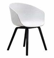 Ex Display HAY About A Chair AAC 22 - White & Black Oak