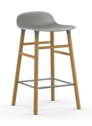 CLEARANCE Normann Copenhagen Form Barstool 65cm Grey & Oak