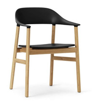 Normann Copenhagen Herit Armchair - Black & Oak