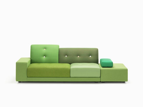 Vitra Polder Sofa - Green Fabric Mix
