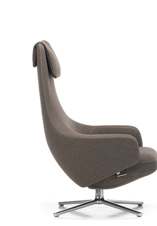 vitra repos lounge chair ottoman by antonio citterio. Black Bedroom Furniture Sets. Home Design Ideas