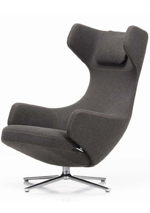 vitra grand repos chair ottoman by antonio citterio. Black Bedroom Furniture Sets. Home Design Ideas