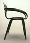 Cherner Armchair Ebony Smooth