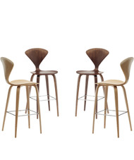 Cherner Bar Stool Wood Base