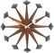 Vitra Polygon Clock by George Nelson at Papillon Interiors