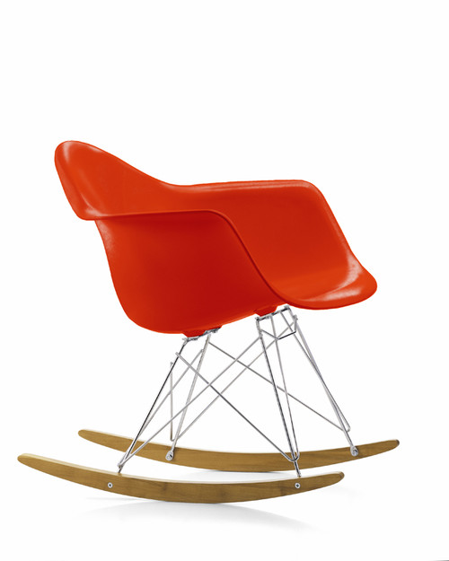 Vitra eames plastic armchair rar rocking chair for Chaise eames rar vitra