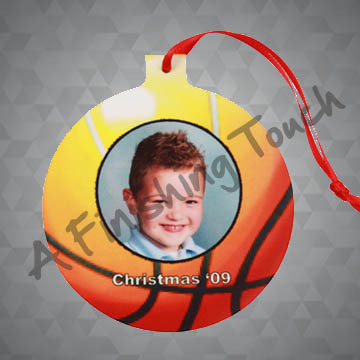 G074- Customized Ball Ornament w/Photo Or Logo