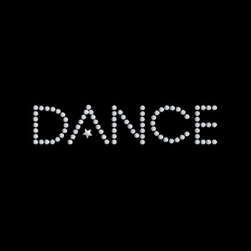 HP6-D- Dance w/Star - Rhinestone