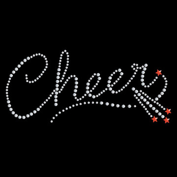 HP11- Cheer Script w/Shooting Stars - Studs