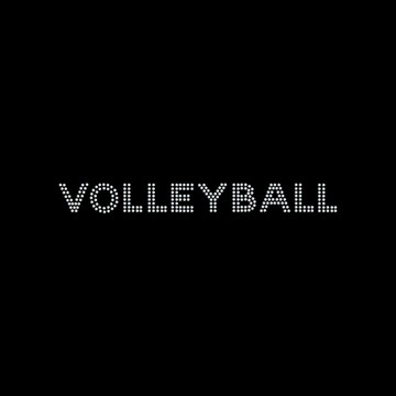 HP46- Volleyball - Rhinestone