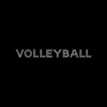 HP46- Volleyball - Rhinestone