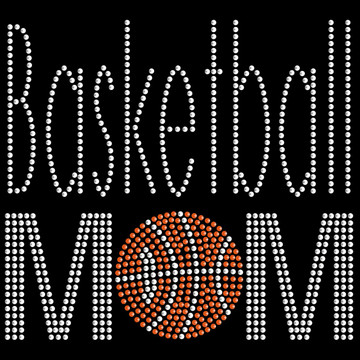 HP54- Basketball Mom - Rhinestone