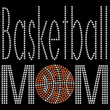 HP54- Basketball Mom - Rhinestone