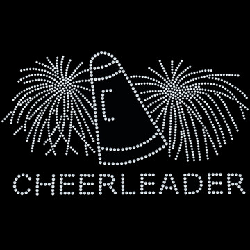 HP65- Cheerleader w/Poms - Rhinestone