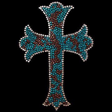 HP66- Cross - Studs/Rhinestones