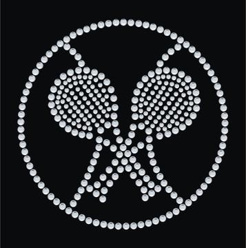 HP114- Tennis - Rhinestone