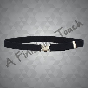 FT111- Navy Heart Stretch Belt