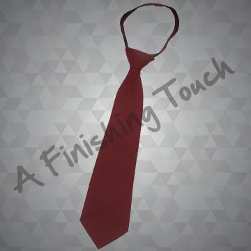 611- Solid ZipperLESS Tie