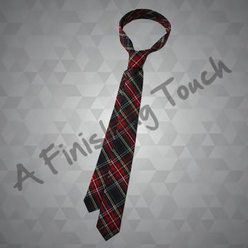 616- Plaid Skinny Tie