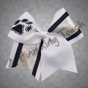 935- Two-Tone Cheer Bow with Classic Rhinestones
