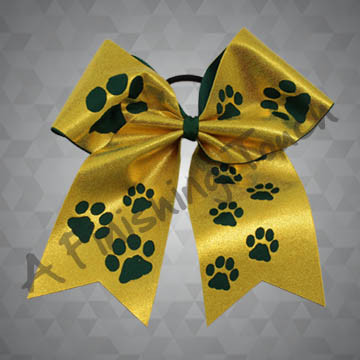 963- Cut-Out Paws Cheer Bow