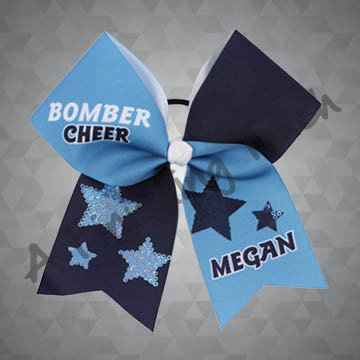 968- Star Sequins Cheer Bow