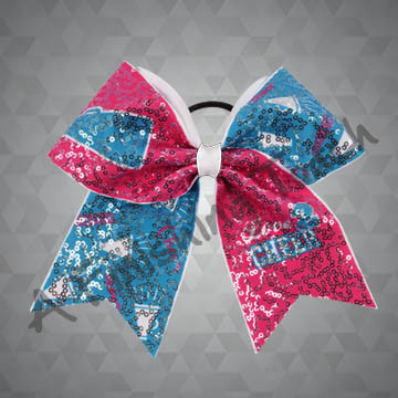 "992- ""Love 2 Cheer"" Bow with Sequins"