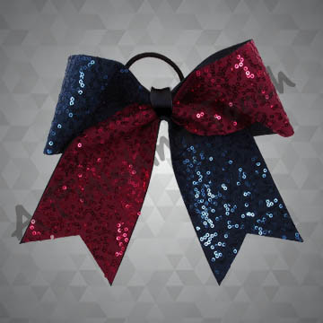 990 - Two-Tone Cheer Bow with Dazzle Sequins