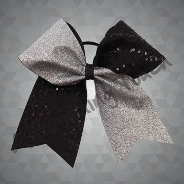 993 - Two-Tone Cheer Bow with Dazzle Sequins and Glitter