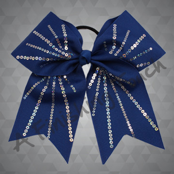 1007 - Fireworks Sequins Cheer Bow