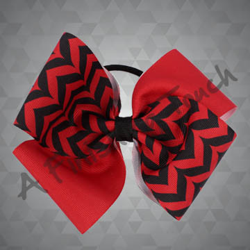 984A- Four-Loop Chevron Quad Sublimated Cheer Bow