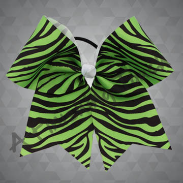 924M2-Two Color Zebra Cheer Bow