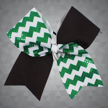 1013- Two-Tone Chevron Cheer Bow with Sequins