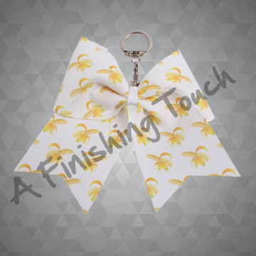 G133- Custom Sublimated Hairbow Keychain