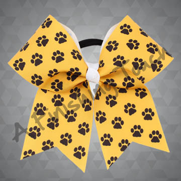 924M2A-Two Color Paw Cheer Bow