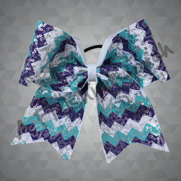986- Three Color Chevron with Sequins