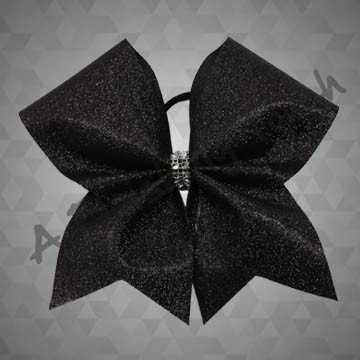 1124- One Layer Glitter bow with Rhinestone Mesh Wrap