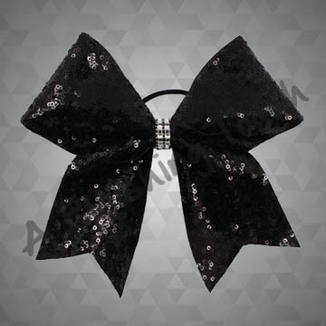1179- One Layer Sequin Bow with Glitter Wrap