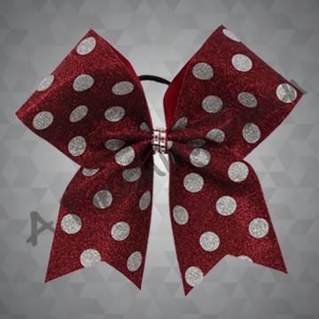 1279- Glitter Polka Dot Bow