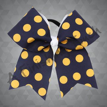 924M2C- Two Color Polka Dot Cheer Bow