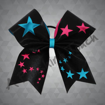 965A- Two-Tone Cut-Out Stars Cheer Bow