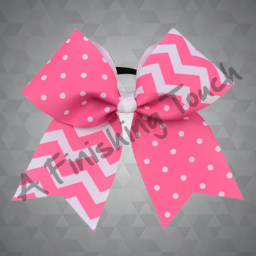 1289- Swiss Dot & Chevron Cheer Bow